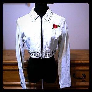 Vintage Guns N' Roses Crop Leather Jacket